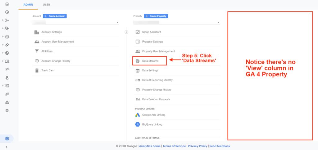 setting up Google Analytics 4